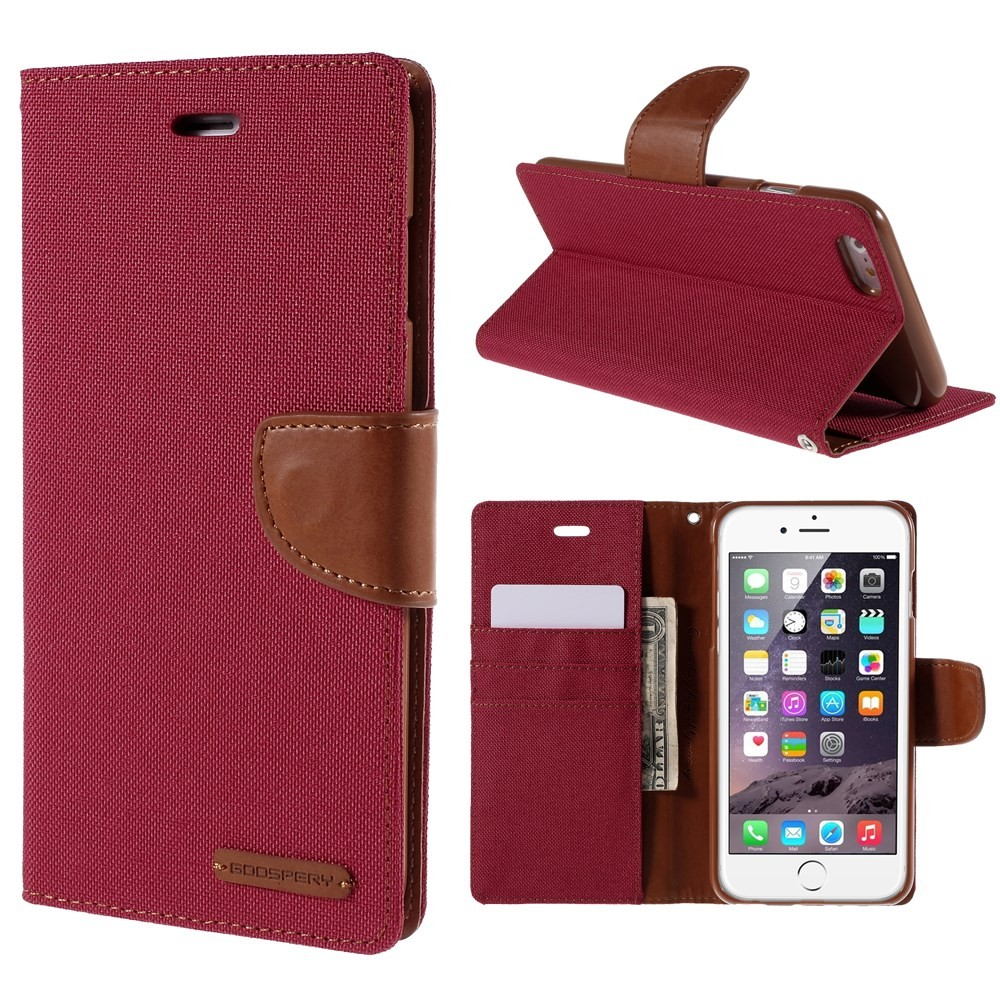 Etui Goospery Canvas Diary za iPhone 6 Plus / 6S Plus - rdeč