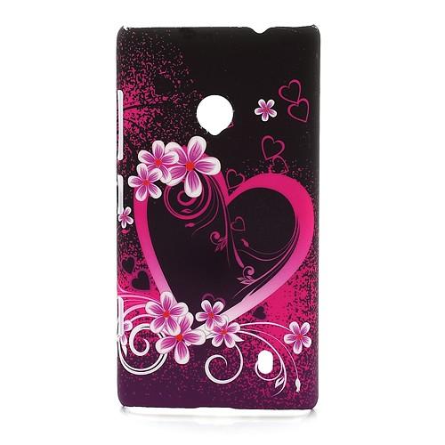 "Trden TPU Ovitek ""Flower Heart"" Za Nokia Lumia 520"