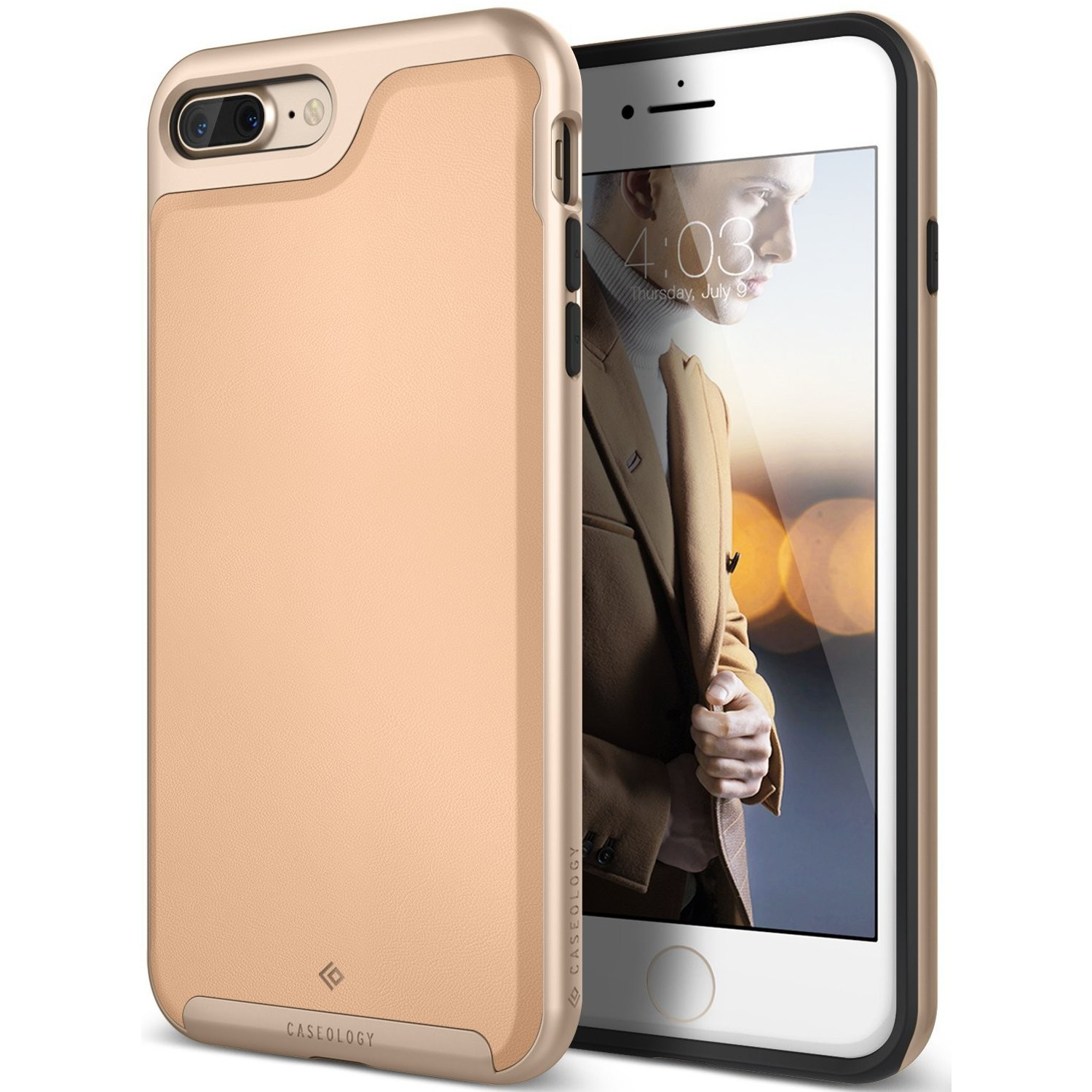 Ovitek Caseology Envoy Series za iPhone 7 Plus - leather beige