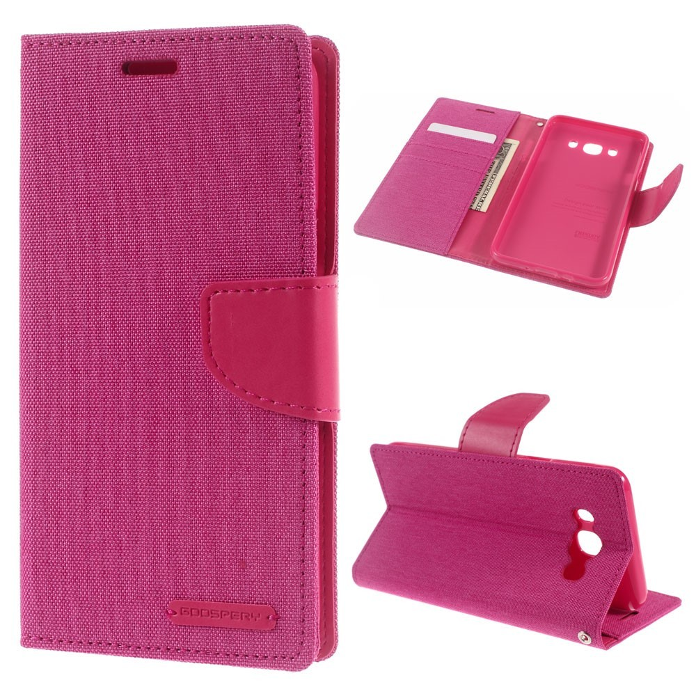 Etui Goospery Canvas Diary Za Samsung Galaxy J7 2016 Roza Xiaomi Mi 6 Case Pink