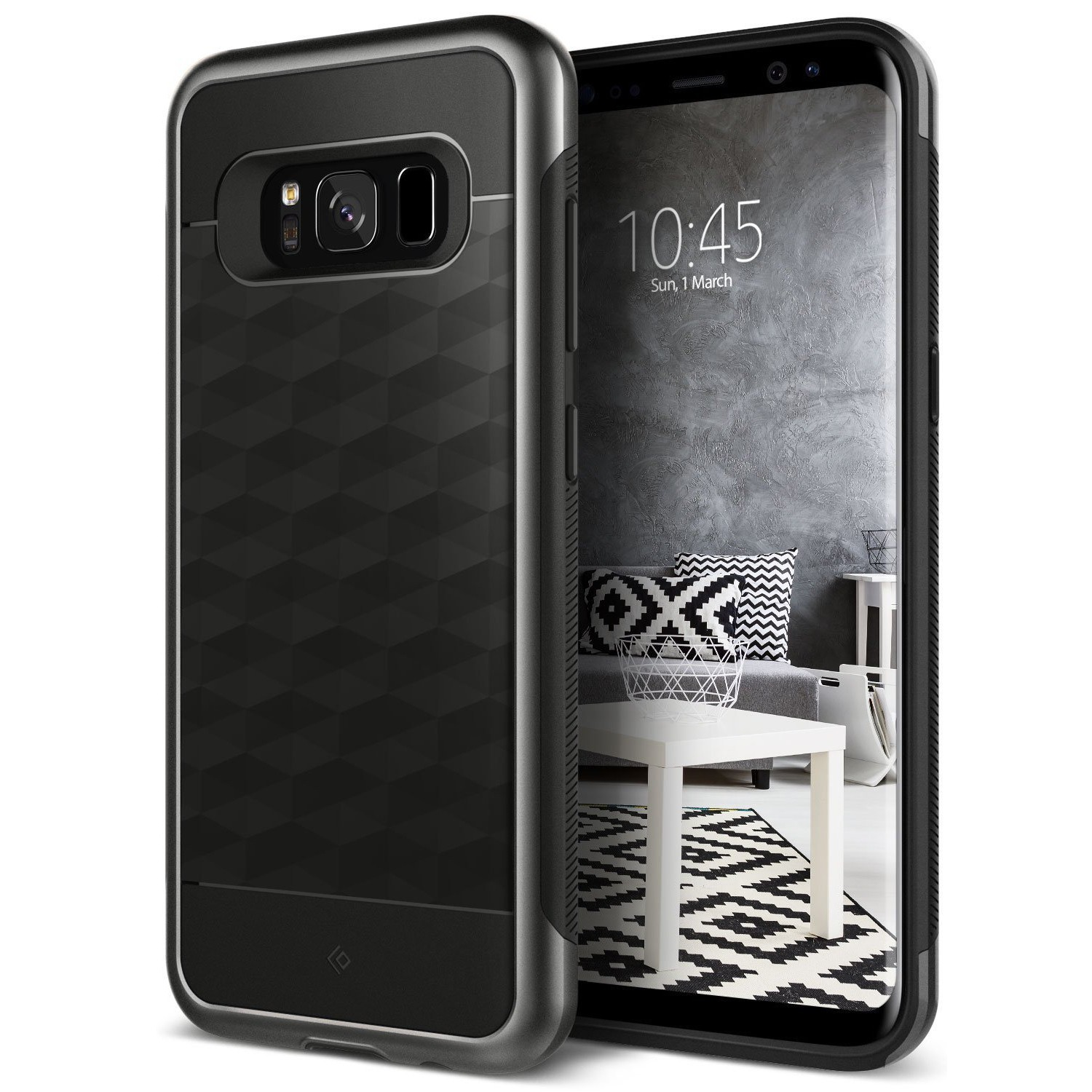 Ovitek Caseology Parallax Series za Samsung Galaxy S8 Plus - black