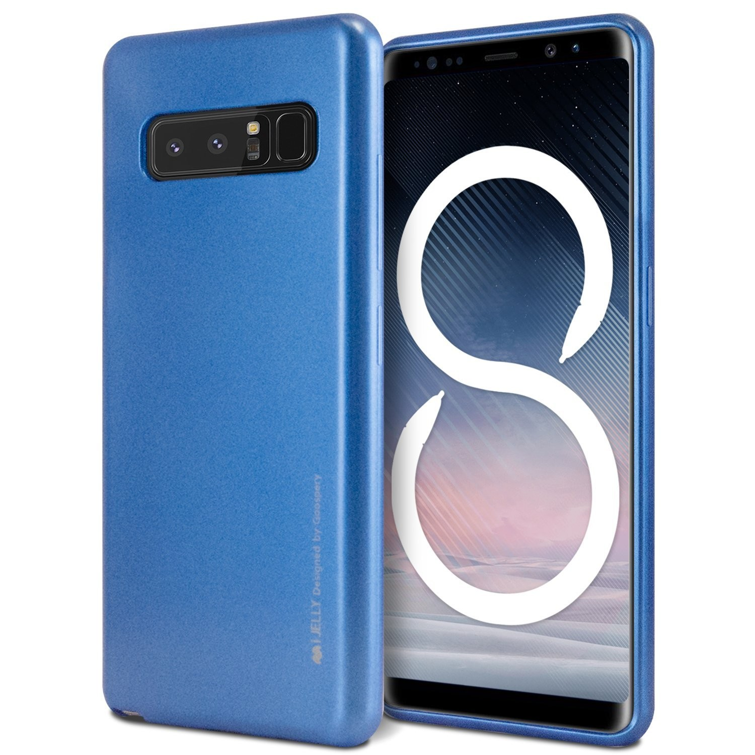 TPU gel ovitek Goospery iJelly Case za Samsung Galaxy Note 8 - moder