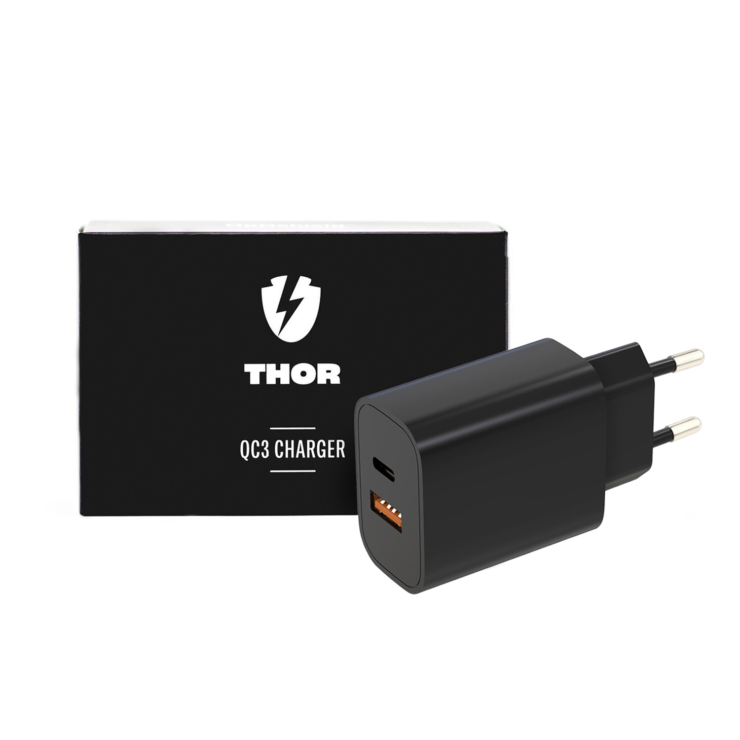 Stenski polnilni adapter Optishield® THOR Quick Charge 3.0