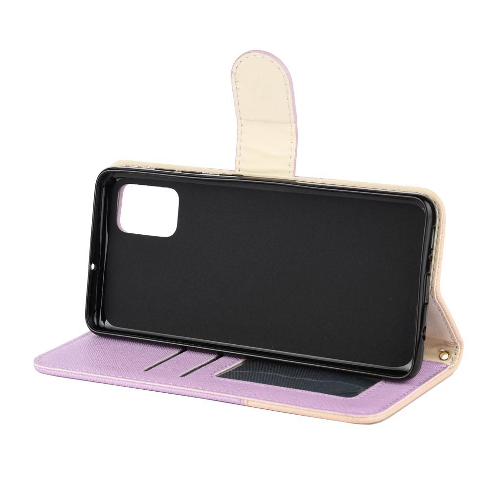 Etui za Samsung Galaxy A51 z režami za kartice in pregibnim pokrovom