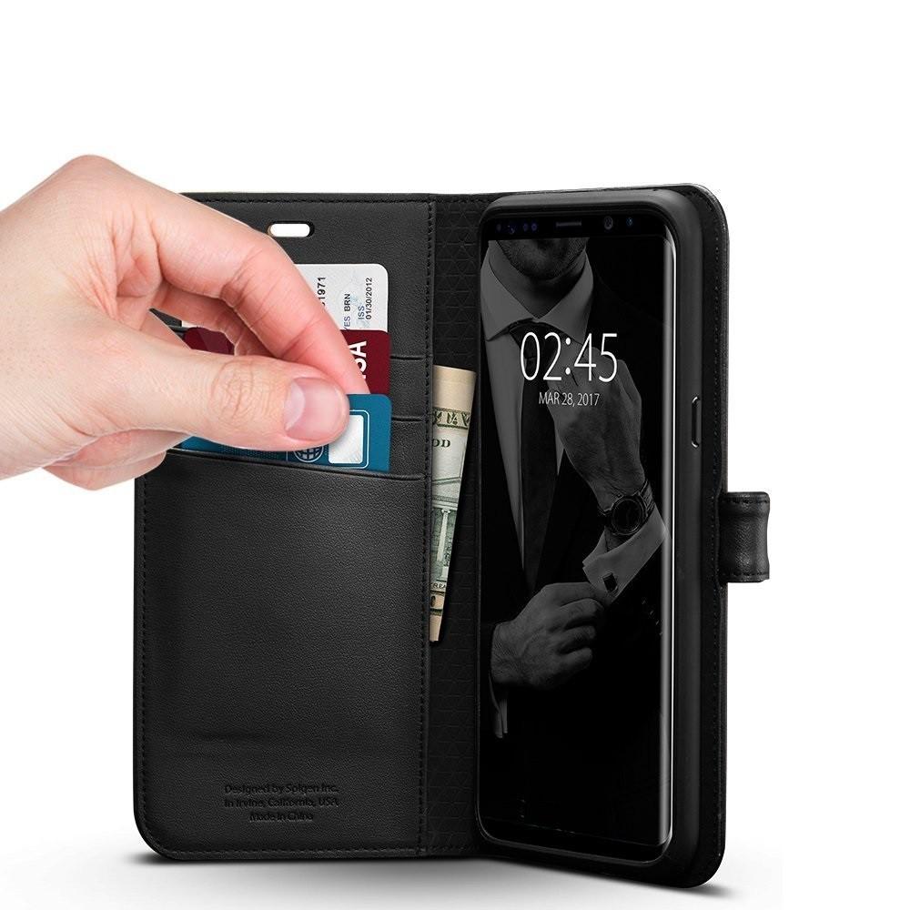 "Spigen ""Wallet S"" etui za Samsung Galaxy S8 s funkcionalnostjo denarnice"
