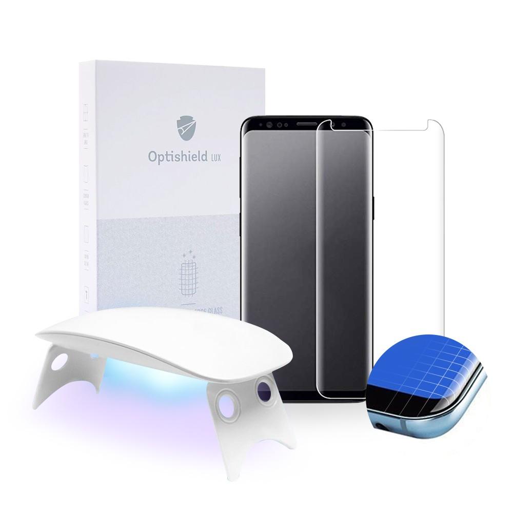 Optishield Lux ukrivljeno zaščitno steklo za Samsung Galaxy S9 s pripomočki za nameščanje
