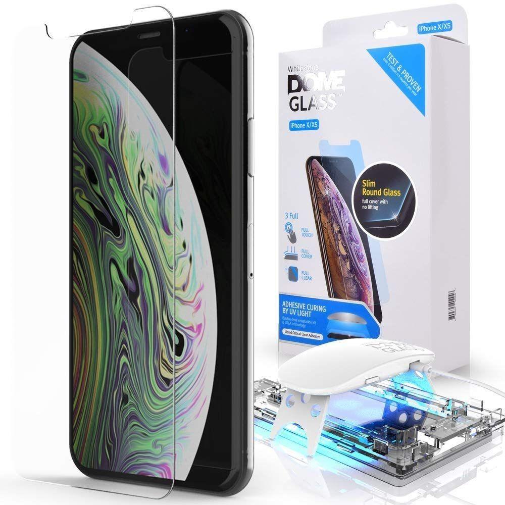Premium zaščitno steklo za iPhone Xr z UV lučko za lažjo namestitev