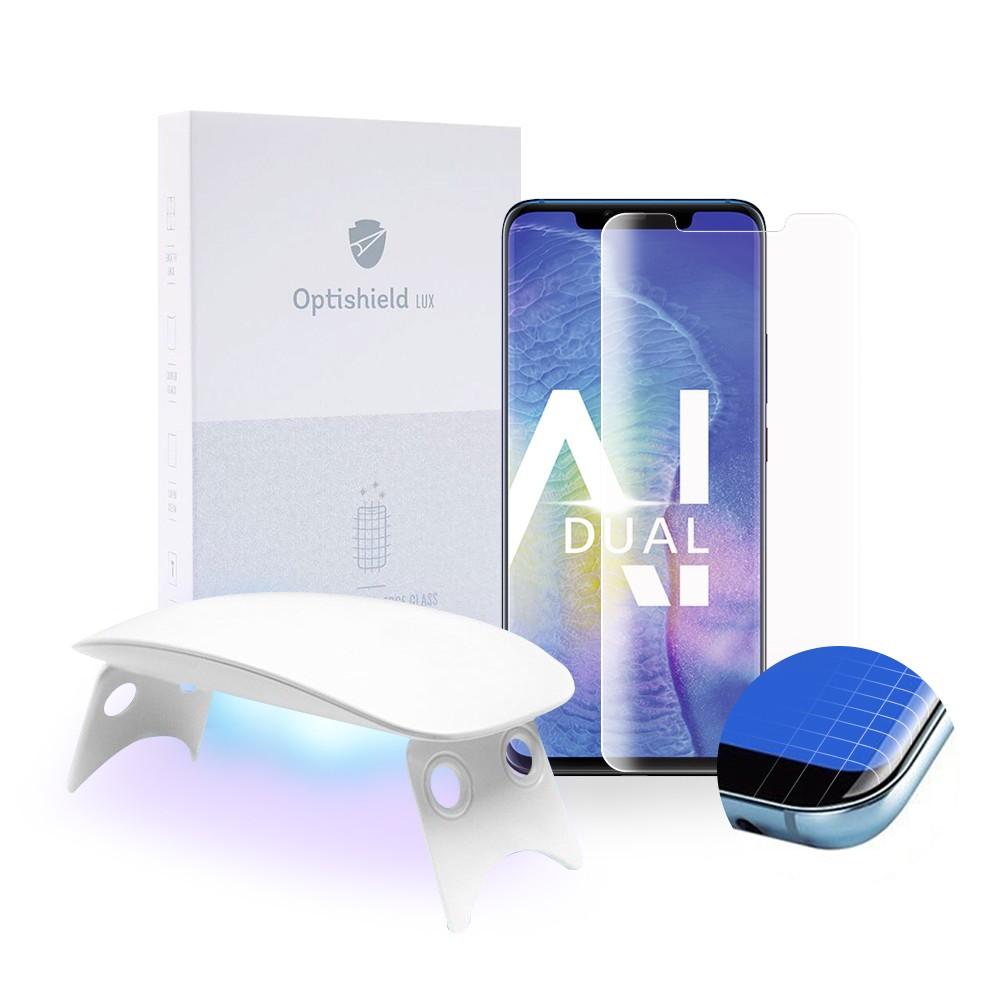 Ukrivljeno zaščitno steklo za Huawei Mate 20 Pro s priborom za enostavno namestitev
